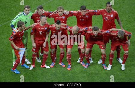 19.05.2012. Monaco di Baviera, Germania. Monaco di Baviera (team torna L-R) Portiere Manuel Neuer, Toni Kroos, Anatoliy Foto Stock