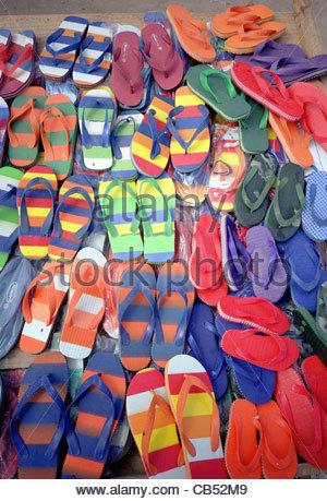 Gomma a strisce colorate strisce di plastica di colore s Foto Stock