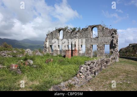 Brimstone Hill, St Kitts, dei Caraibi Foto Stock
