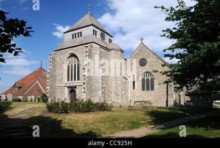 La Chiesa Abbaziale di Santa Maria la Vergine e san Sexburgha, in Minster-on-Sea, Kent, Inghilterra