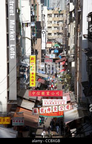 Vista aerea del gage street market con il mercato lofts hong kong RAS di Hong kong cina asia Foto Stock