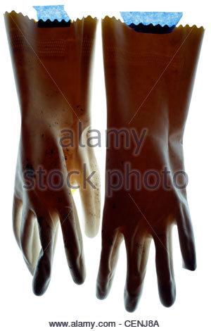 Uso domestico guanti da lavoro Foto Stock