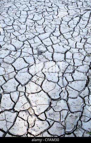 Rotto il fango di argilla nella Valle del Fiume Rosso. Winnipeg, Manitoba, Canada. Foto Stock