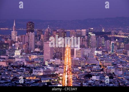 Stati Uniti d'America, Stati Uniti, America, California, San Francisco, città, Downtown, Market Street, architettura, Foto Stock