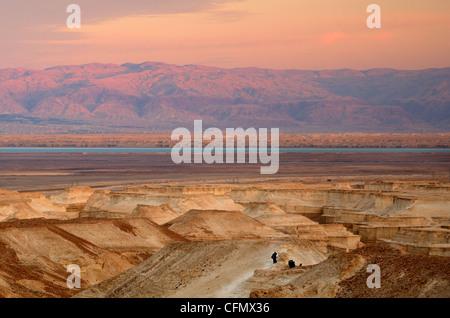 Il paesaggio di Judaean deserto vicino al Mar Morto in Israele Foto Stock