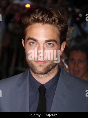"""Agosto 13, 2012 - New York New York, Stati Uniti - Attore Robert Pattinson assiste il New York premiere di """"Cosmopolis"""" Foto Stock"""