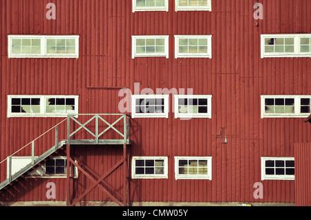 Facciata con windows Foto Stock
