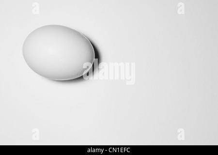Uovo bianco Foto Stock
