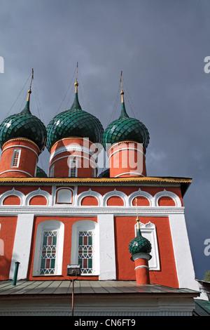Christian chiesa ortodossa su sfondo nuvoloso Foto Stock