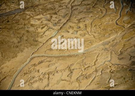 Il fango appartamenti lungo la costa della regione di Pwani, vista aerea, Tanzania Foto Stock