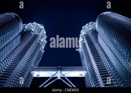 Torri Petronas di Kuala Lumpur Foto Stock