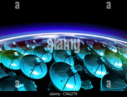 Array Satellite artwork Foto Stock