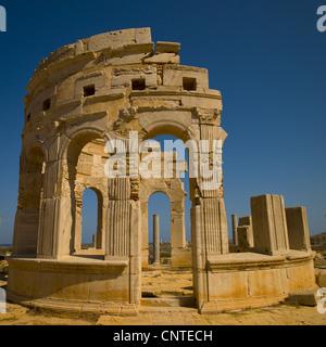 Leptis Magna sito romano, Libia Foto Stock