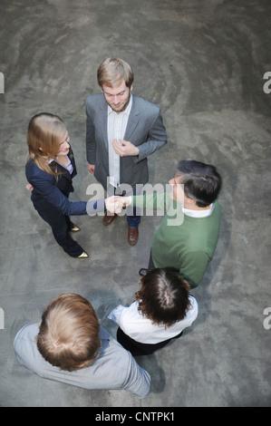 Vista aerea della gente di affari Foto Stock