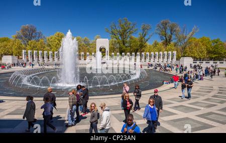 WASHINGTON, DC, Stati Uniti d'America - il Memoriale della Seconda Guerra Mondiale. Foto Stock