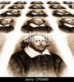 William Shakespeare, 1564 - 1616, un drammaturgo inglese, poeta e attore Foto Stock