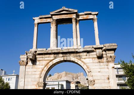 L'Arco di Adriano, Atene, Grecia, Europa Foto Stock