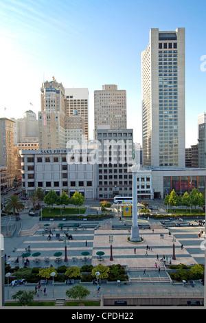 Union Square, il centro cittadino di San Francisco, California, Stati Uniti d'America, America del Nord Foto Stock