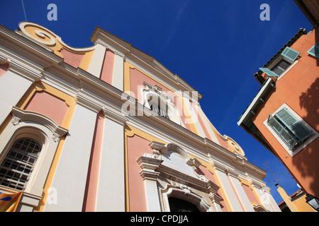 Eglise Saint Michel (St. Michaels chiesa), Villefranche sur Mer, Cote d'Azur, Riviera Francese, Provence, Francia Foto Stock