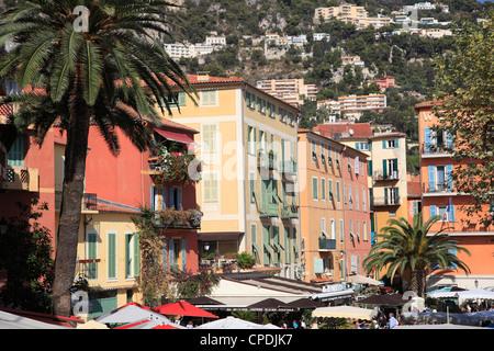 Villefranche sur Mer Alpes Maritimes, Cote d'Azur, Riviera Francese, Provence, Francia Foto Stock