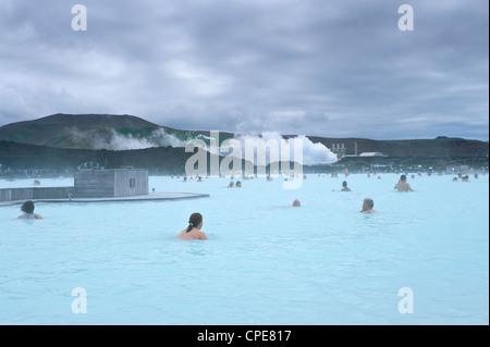 Blue Lagoon Resort, Svartsengi, Islanda, regioni polari Foto Stock