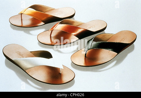 Moda, calzature, flip-flop, jandals di Salvatore Ferragamo, collezione estate, 1999, 1990s, 90s, xx secolo, storico Foto Stock