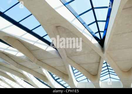 Moderno dettagli architettonici, Lione St Exupery Foto Stock