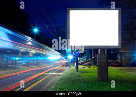 Affissioni nella città street, lo schermo è vuoto Foto Stock