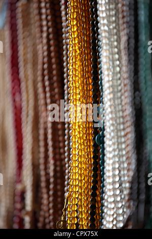 Japamalas in un negozio nepal Foto Stock
