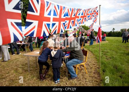 Diamante festa giubilare Morden Park, a sud ovest di Londra, England, Regno Unito Foto Stock