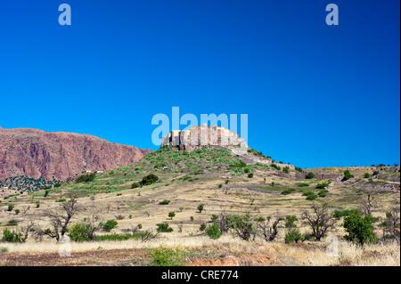Castello di storage, Agadir Tizourgane, Anti-Atlas montagne, sud del Marocco, Marocco, Africa Foto Stock