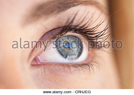 Close up occhi di donna Foto Stock