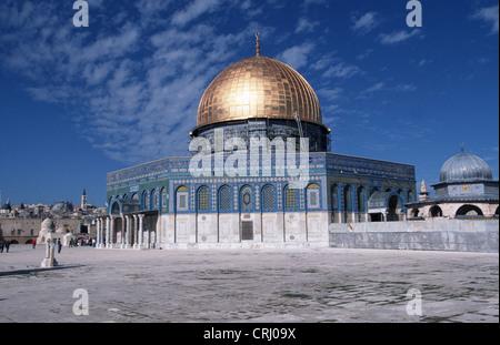 Moschea Al Aqsa sul Monte del Tempio a Gerusalemme Foto Stock