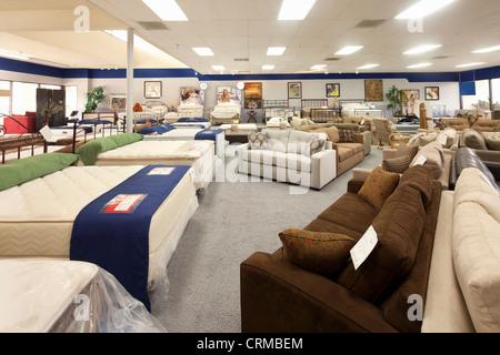 Interno del negozio di mobili Foto Stock