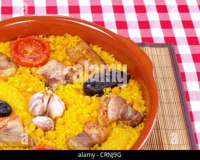 Arroz al Horno - Forno di riso cotto Foto Stock