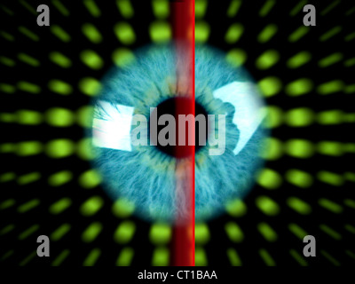 Irisscan - Biometrie Foto Stock