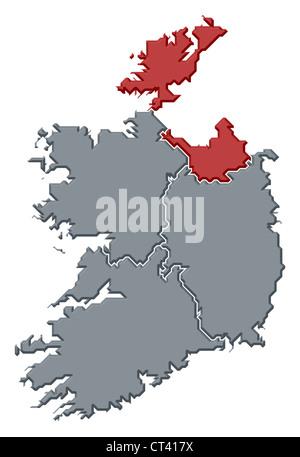 Cartina Politica Dell Irlanda.Mappa Politica Dell Irlanda Con Le Diverse Province Dove Connacht E Evidenziata Foto Stock Alamy