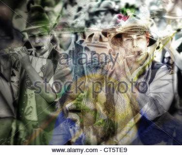 Arte digitale: ottantacinquesimo Loisachgaufest a Bad Toelz (28 giugno al 02 luglio 2012) Foto Stock
