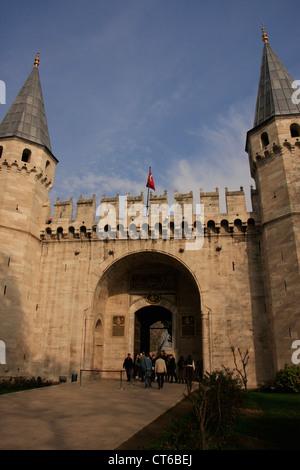 Il gate del saluto, il palazzo di Topkapi, Sultanahmet, Istanbul, Turchia Foto Stock