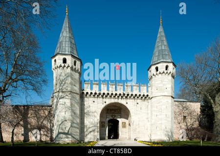 Türkei, Istanbul, Sultanahmet, il palazzo di Topkapi Saray, Bab-üper s Selam, il gate del saluto, ingresso al secondo Foto Stock