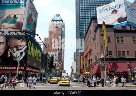 New York City 7 th Avenue vicino a Times Square selvaggi Foto Stock