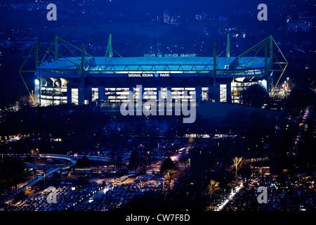 Stadio del Borussia Dortmund Signal Iduna Park, in Germania, in Renania settentrionale-Vestfalia, la zona della Foto Stock