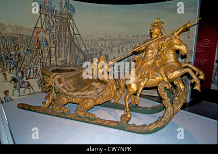 Il carnevale la slitta utilizzata da Caterina la Grande come parte del festival invernale del procedimento. SCO 8307