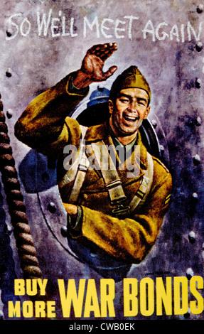 """La II Guerra Mondiale, """"acquistare più guerra obbligazioni """" poster, c. 1942. Foto Stock"""