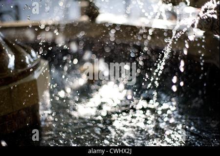 Waterdrop,Fontana Foto Stock
