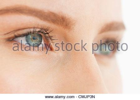 Close up occhi di donna Foto Stock