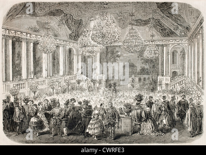 Masquerade palla in Hotel d'Albe, Parigi