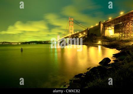 Il Golden Gate Bridge di San Francisco, California, Stati Uniti d'America Foto Stock