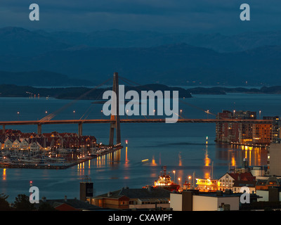 Ponte sullo skyline di Stavanger in Norvegia. Foto Stock