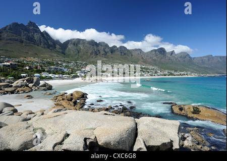 I dodici apostoli, Camps Bay, Città del Capo, Provincia del Capo, in Sud Africa e Africa Foto Stock
